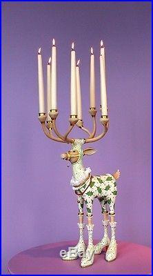 Patience Brewster Krinkles Vixen Reindeer Christmas Candle Candelabra