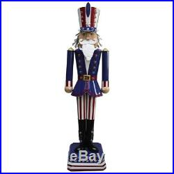 Patriotic Nutcracker Statue 50 LED Light Uncle Sam
