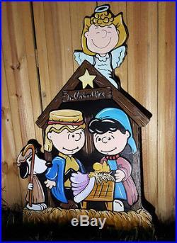Peanuts Christmas Nativity Scene Yard Art Decorations