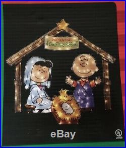 Peanuts Yard Art Peanuts Christmas Pageant By Roman Inc. 42 Pre-Lit 2008