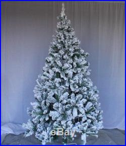 Perfect Holiday Christmas Tree, 7', Flocked Snow