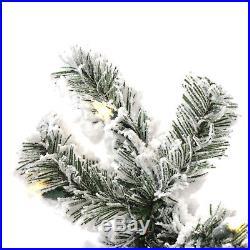 Perfect Holiday Pre-Lit Christmas Tree Snow Flocked 6.5 feet 400 LED Warm White