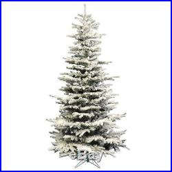 Perfect Holiday Pre-Lit Christmas Tree Snow Flocked 7.5 feet 550 LED Warm White