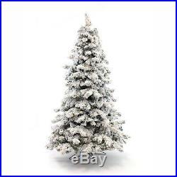 Perfect Holiday Pre-lit Christmas Tree Alaskan Snow Flocked 5 feet 300 LED