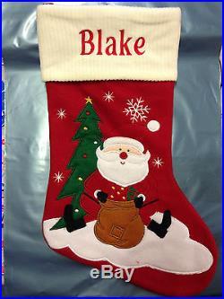 Personalised Embroidered Christmas Santa Snowman Reindeer