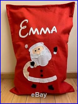 Personalised Father Christmas Xmas Santa Sack Large Stocking JUMBO SACK