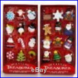 Petite Treasures Miniature Ornaments 12 Pc Christmas Tree Decoration Party Hangi