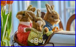 Pier1 Easter Road Trip Natural Bunny Family Bnwt