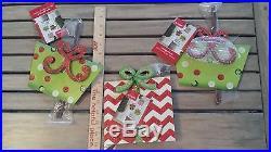Pier 1 One set of 3 Christmas Gift / Present Metal Yard Decor Garden Stakes