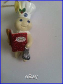 Pillsbury Dough Boy Reading Christmas Recipe Book Tree Ornament