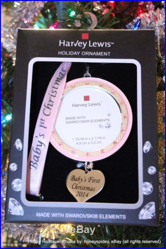 Pink Frame Baby S First Christmas 2014 Harvey Lewis