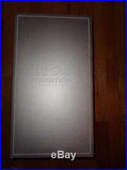Pottery Barn 12 DAYS OF CHRISTMAS ORNAMENT SET-NEW IN GIFT BOX-HARD TO FIND