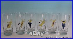 Pottery Barn Christmas Reindeer Glass Tumblers Set of 6