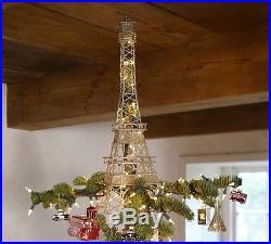 Pottery Barn Eiffel Tower Tree Topper BNIB BEAUTIFUL