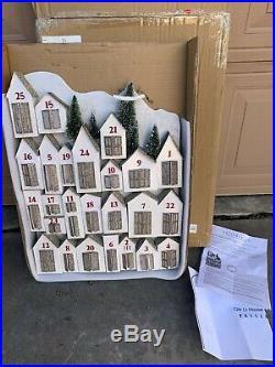 Pottery Barn GLITTER LIT House ADVENT CALENDAR Christmas Holiday Village NEW