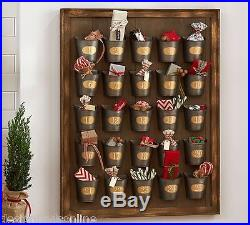 Pottery Barn Gilt Galvanized Bucket Advent Calendarnew In Box