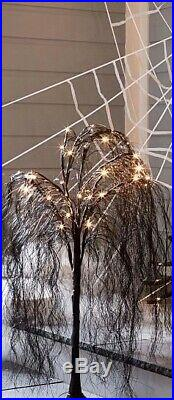 Pottery Barn HALLOWEEN LIT Weeping WITCHES Willow SM TREE Party Outdoor Yard NEW