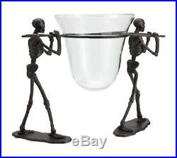 Pottery Barn Halloween Walking Dead Skeleton Serve Bowl Stand