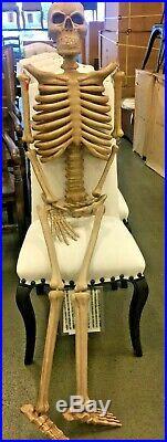 Pottery Barn Indoor Outdoor Mr Bones Skeleton Halloween Natural 78 High New Box