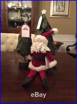 Pottery Barn Kids Felt Trees And Plush Santa Set NWT