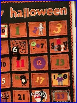 Pottery Barn Kids Halloween Advent Countdown Calendar Happy Halloween Retired