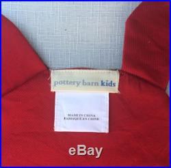 Pottery Barn Kids Holiday Placemats 4 Set Christmas Santa Elf Snowman Reindeer