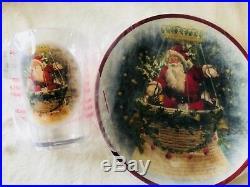 Pottery Barn Kids Nostalgic Santa Plate Tumbler Utensil Set 12 Classic Christmas