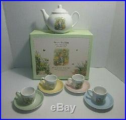 Pottery Barn Kids Porcelain PETER RABBIT Tea Set COMPLETE