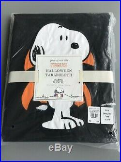 Pottery Barn Kids Snoopy Peanuts Halloween Tablecloth New 70 X 90 & 4 Napkins