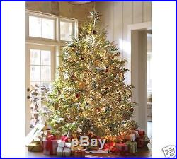 Pottery Barn Mirrored Star Tree Topper Rustic Gold Nwob