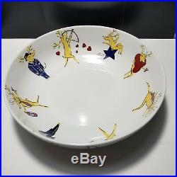 Pottery Barn REINDEER 14 Large Salad Serving Bowl