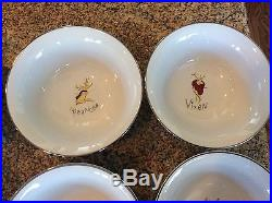 Pottery Barn Reindeer Collection 8 Cereal Soup Bowls