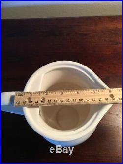 Pottery Barn Rare Snowflake Tall Teapot. Retired