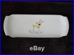 Pottery Barn Reindeer Rudolph Rectangular Serving Tray