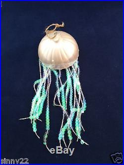 Pottery Barn Sequin Jellyfish Ornament Sea Life Ocean Coastal Beach NIB