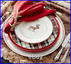 Pottery Barn Silly Stag Complete Set 8 Dinner Plates + 8 Salad + Platter