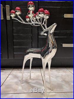 Pottery Barn Silver Reindeer Candelabra 10 Candle Holder