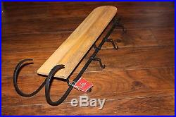 Pottery Barn Sleigh Mantle Stocking Holder Christmas New with tags Tobaggan