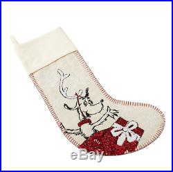 Pottery Barn Teen GRINCH, CINDY LOU, MAX Sequin CHRISTMAS Stockings SET of 3