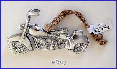 Pottery Barn motorcycle Christmas ornament