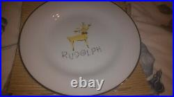 Pottery barn reindeer Rudolph 11 dinner plate EXCELLENT condition