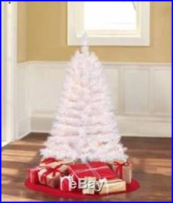 Pre-Lit 4' Indiana Spruce White Artificial Christmas Tree Clear Lights Decor New
