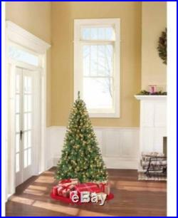 Pre-Lit 6.5′ Pine Green Artificial Christmas Tree Clear Lights Holiday Decor