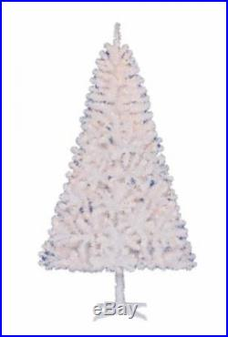 Pre-Lit 6.5' Pine White Artificial Christmas Tree Clear Lights Holiday Decor