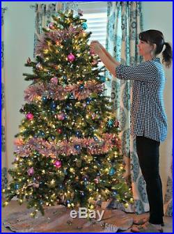 Pre-Lit 6' Big Christmas Artificial Pine Tree Multi color LED lights with Stand