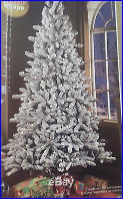 Pre Lit 7 5 Flocked Birmingham Fir Artificial Christmas