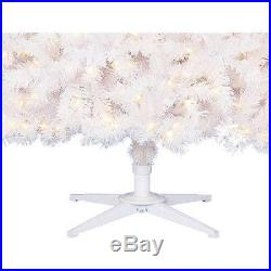 Pre-Lit 7.5′ White Artificial Christmas Tree With 500 LED Color Changing Lights