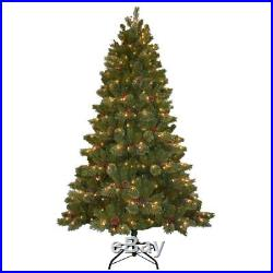 Pre-Lit 7.5 ft. Cashmere Cone and Berry Decorated Christmas Tree with 550 Lights