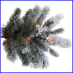 Pre Lit 9′ Artificial Christmas Tree With Clear Lights Holiday Indoor Decoration