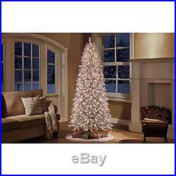 Pre-Lit 9-Feet Slim Winter Frost Pine Artificial Christmas Tree Clear Light 1469